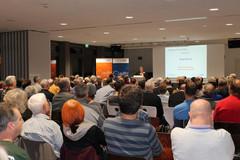 ADFC-Landesvorstand Baden-Württemberg Gudrun Zühlke hält Eröffnungsrede