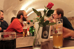 ADFC-Aktive auf der Abendveranstaltung im Gasthaus Krone