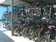 Bike+Ride-Anlage am U-Bahnhof Kieferngarten in München